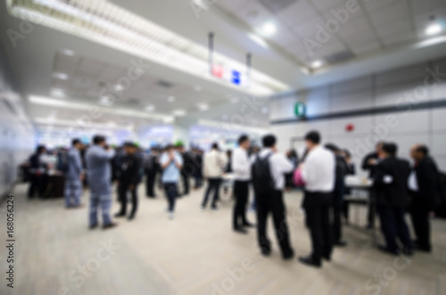 In de dag Blurred people walking in the hall.concept for blur background .