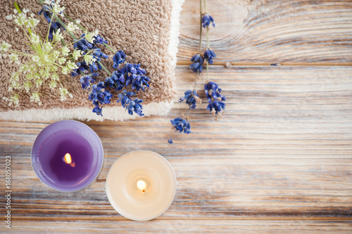 Spa composition with towels