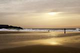 sunset at Lances Beach in Tarifa, Spain
