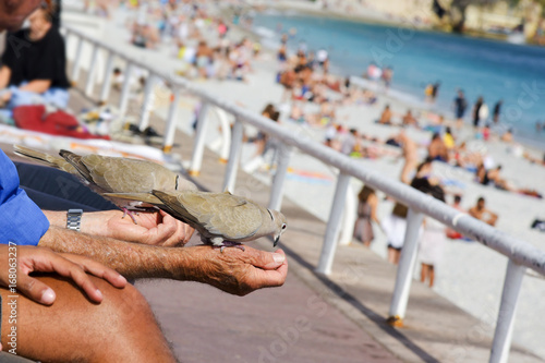 Fotobehang Nice people at the Promenade des Anglais in Nice, France