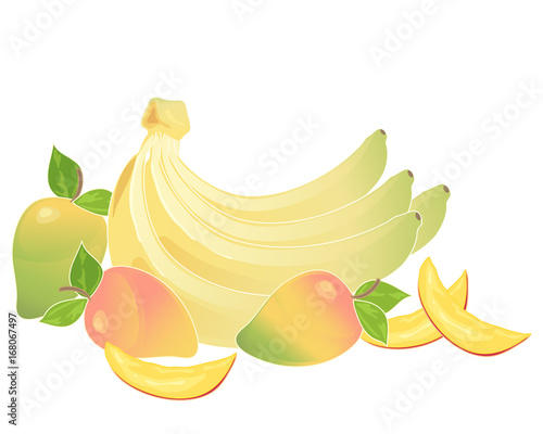 bananas and mango - 168067497