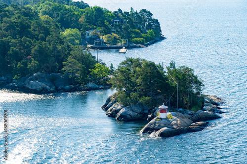 Staande foto Stockholm Insel in den Schären vor Stockholm