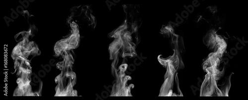 Steam on black background - 168083672