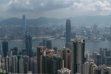 Buildings cityscape from Victoria peak, Hong  Kong, in August 2017