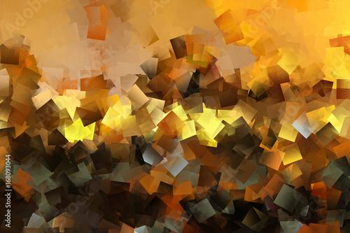 Mozaika w kolorach żółtym, brązowym i złotym