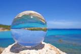 Costa Smeralda in Kristallkugel, Sardinien, Italien