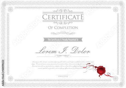 Certificate or diploma retro design template  - 168098222