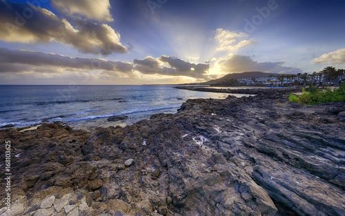 Deurstickers Canarische Eilanden Playa Blanca in Lanzarote