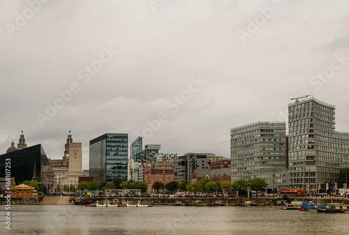 Liverpool. City skyline. Poster