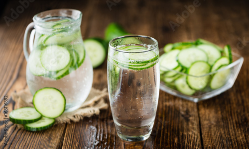 Cucumber Water selective focus