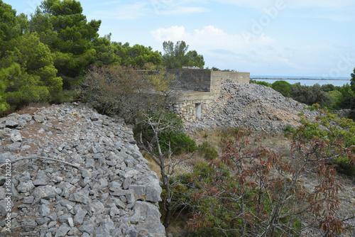 Ancien blockaus allemand à Leucate, Aude, Languedoc, Occitanie. Poster