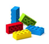 Colorful building toy blocks 3D - 168151625
