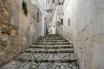 Matera, Italy - Typical pedestrian only street
