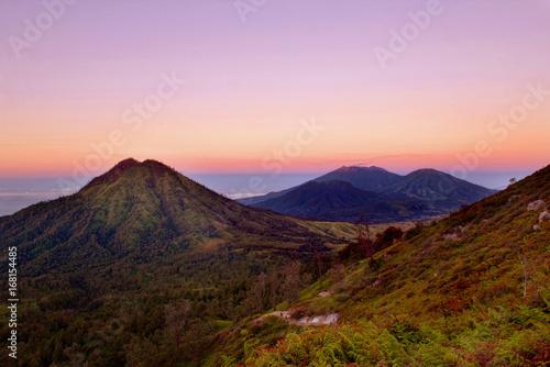 Keuken foto achterwand Purper mountain