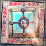 Mystical window with Celtic cross - Graal - 168157444