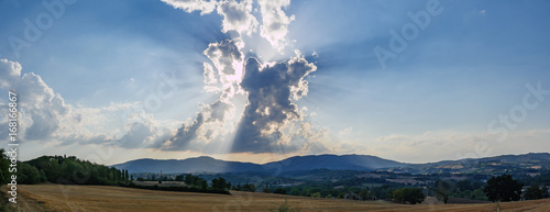 Clouds over tuscany