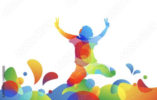bambino, saltare, cromoterapia, gioco, giocare © MG