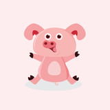 cute pig for kids design and toy