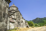 Side view on the monastery Gregory the Enlightener in the Armenian village of Haghpat