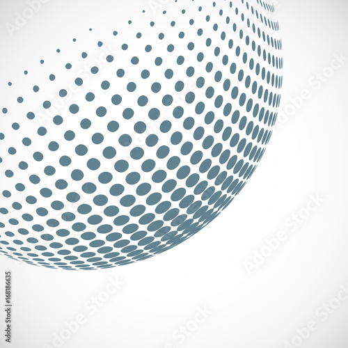 Staande foto Wereldkaart Vector abstract dotted halftone planet