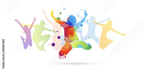 bambino, saltare, cromoterapia, gioco, giocare - 168187683