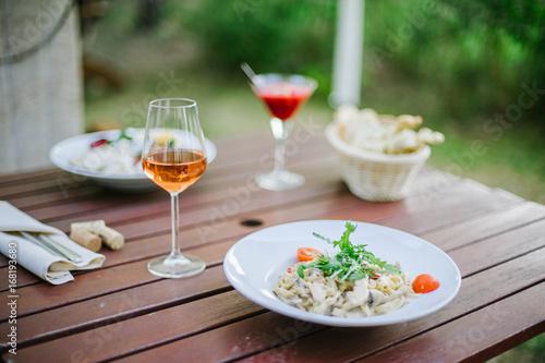 Dinner at the restaurant  - 168193680