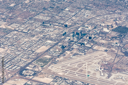 Plexiglas Las Vegas Aerial view of Las Vegas, Nevada in the daytime
