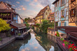 City of Colmar. Cityscape image of downtown Colmar, France during sunrise.