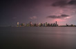 Jersey city  view during sunset on a stormy day