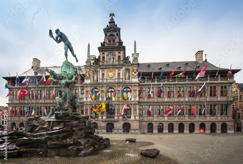 Keuken foto achterwand Antwerpen Cental square of Antwerpen, Belgium