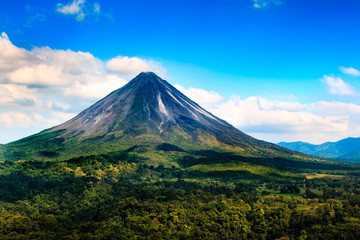 Arenal volcano in Costa Rica