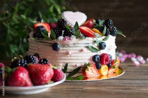 Poster Ягодный торт