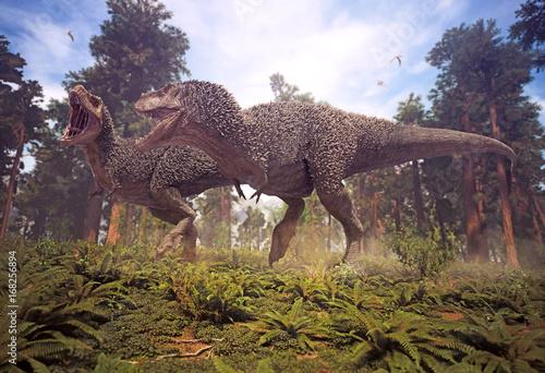 3d-rendering-tyrannosaurus-rex-matuje-pary-odprowadzenie
