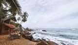 Sri-Lanka wild beaches with natural nature