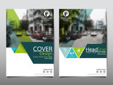 Fototapety Green flyer cover business brochure vector design, Leaflet advertising abstract background, Modern poster magazine layout template, Annual report for presentation.