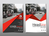 Red flyer cover business brochure vector design, Leaflet advertising abstract background, Modern poster magazine layout template, Annual report for presentation. - 168261478
