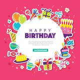 Happy birthday greeting card - 168279647