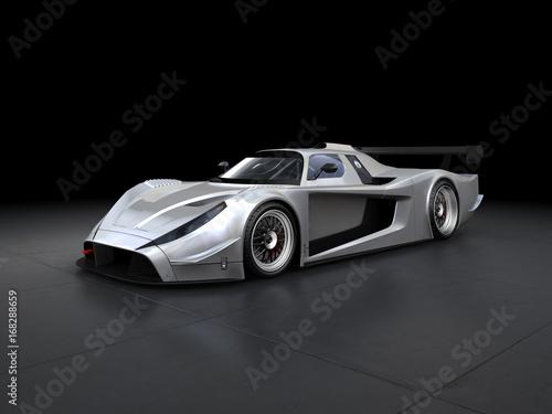 Foto op Plexiglas Motorsport Silberner Rennwagen