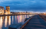 Le quai de la Chaume de nuit (Les Sables d'Olonne, France) - 168298064