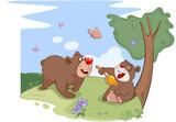 Illustration. All Bears Love Honey