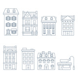 Buildings and houses in european style - townhouse, condo and hotel - 168302237
