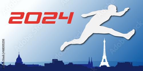 Paris - 2024 - Jeux Olympique - sport - France -affiche