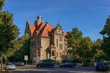 Prachtvolles Schulgebäude: Ehemaliges Realgymnasium Oberschöneweide, Ansicht von Nordwesten