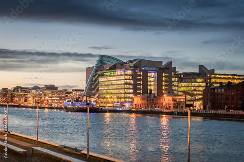 Foto op Canvas Night panoramic in Dublin, Ireland