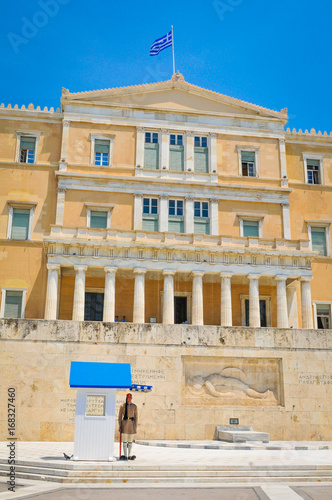 Parliament building in Athens, Greece
