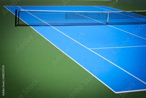 Fotobehang Tennis blue and green tennis court