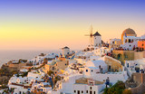 view on Oia village during sunset, Santorini island, Cyclades, Greece - 168343637