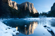 Sunrise at Valley View, Yosemite in winter.
