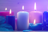 Colorful candles. Aromatherapy. Interior - 168357017