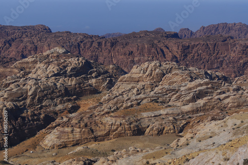 Papiers peints Cappuccino Red rocks and sand desert in Jordan